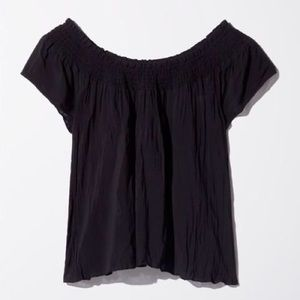 ARITZIA Cabrini Off Shoulder Tube Top Blouse Black